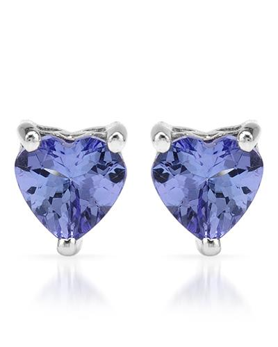 Brand New Earring with 0.9ctw tanzanite 925 Silver sterling silver