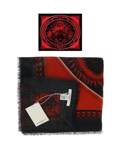 Givenchy GW1414 SE038 1 Brand New Scarf  Multicolor Cashmere and  Two tone Silk