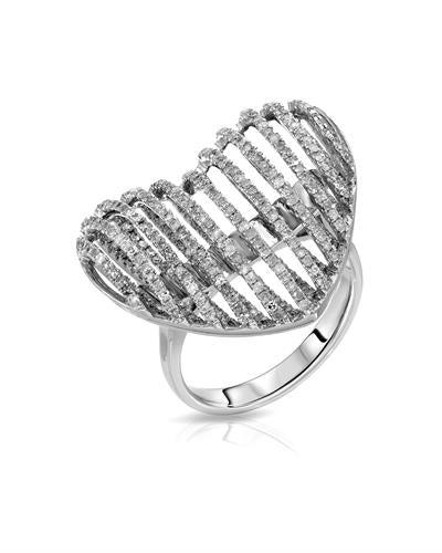 Lundstrom Brand New Ring with 1.19ctw diamond 14K White gold