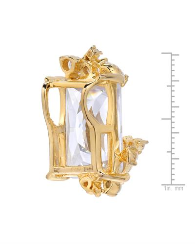 Brand New Pendant with 0ctw cubic zirconia 14K/925 Yellow Gold plated Silver