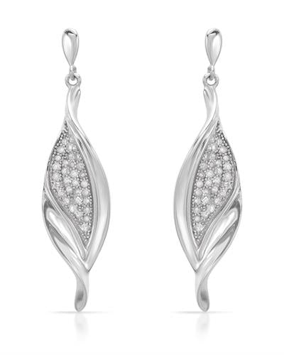 Brand New Earring with 0.45ctw diamond 925 Silver sterling silver
