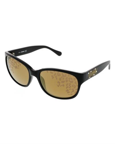 Just Cavalli JC 496S/S 01G Brand New Sunglasses with 0ctw crystal  Black plastic