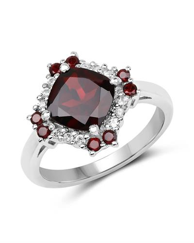 Brand New Ring with 2.77ctw of Precious Stones - garnet and topaz 925 Silver sterling silver