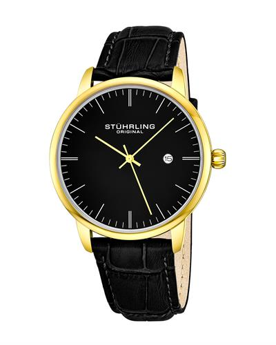STUHRLING ORIGINAL 3997.6 Brand New Quartz day date Watch