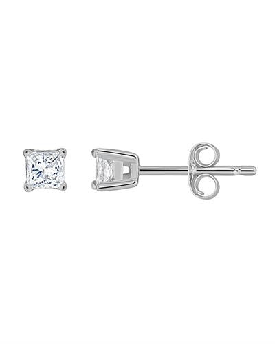 Brand New Earring with 0.5ctw diamond 14K White gold