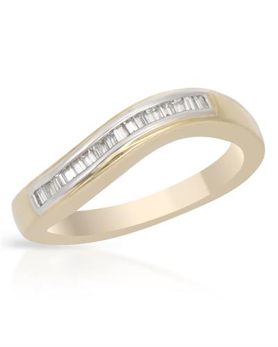 Brand New Ring with 0.22ctw diamond 14K Yellow gold
