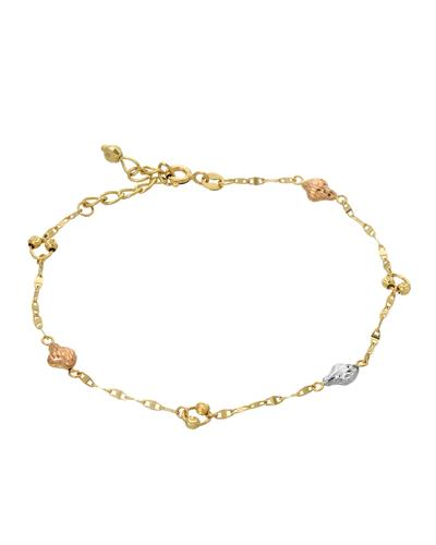Brand New Bracelet 14K Three tone gold
