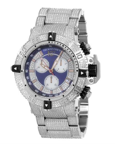Techno Com by KC WA009443 Brand New Swiss Movement multifunction Watch with 13ctw of Precious Stones - crystal, diamond, and mother of pearl