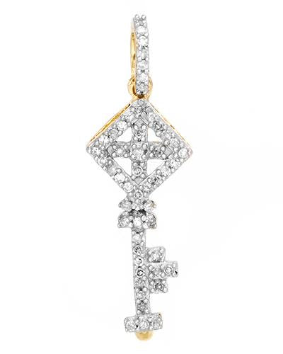 Lundstrom Brand New Pendant with 0.18ctw diamond 14K Yellow gold