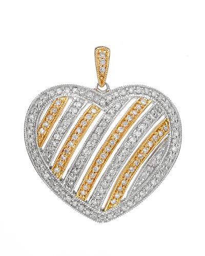 Brand New Pendant with 0.58ctw diamond 14K Two tone gold