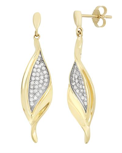Brand New Earring with 0.4ctw diamond 10K Two tone gold