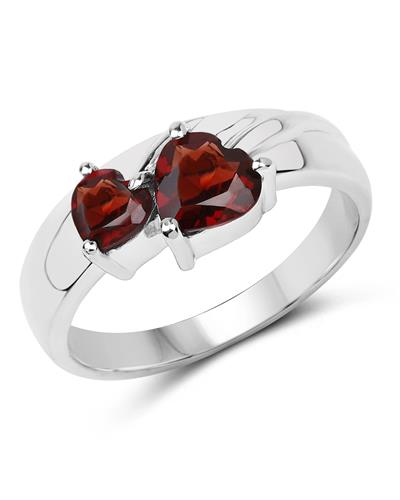 Brand New Ring with 1.31ctw garnet 925 Silver sterling silver