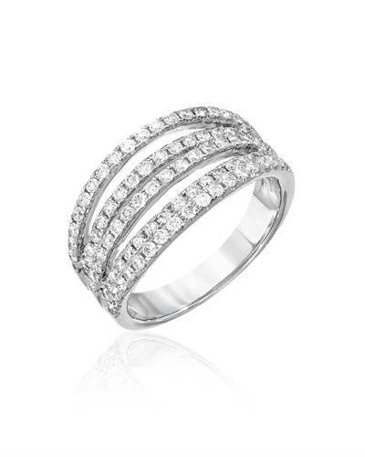 Julius Rappoport Brand New Ring with 0.96ctw diamond 18K White gold