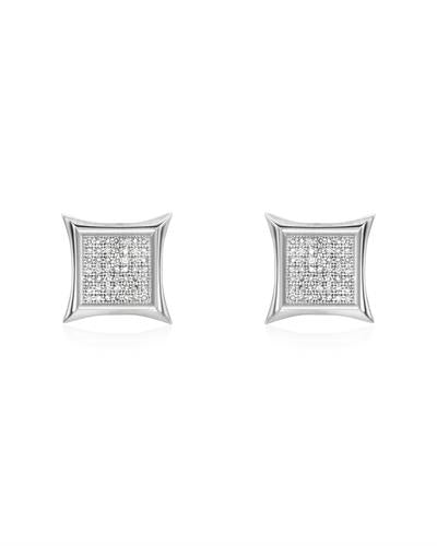 Brand New Earring with 0.32ctw diamond 14K White gold
