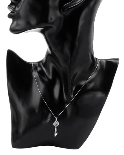 Brand New Necklace with 0.15ctw diamond 925 Silver sterling silver