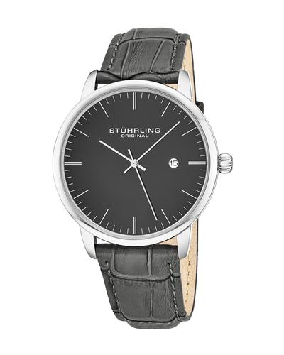 STUHRLING ORIGINAL 3997.4 Brand New Quartz day date Watch