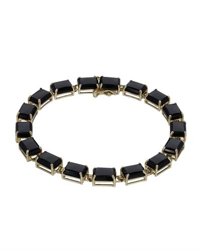 Brand New Bracelet with 0ctw onyx 14K Yellow gold