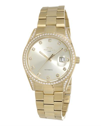 Oniss ON3883-GG PARIS Brand New Automatic date Watch with 0ctw crystal