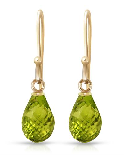Magnolia Brand New Earring with 2.7ctw peridot 14K Yellow gold