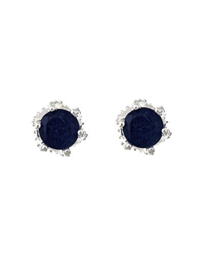 Brand New Earring with 1.4ctw sapphire 925 Silver sterling silver