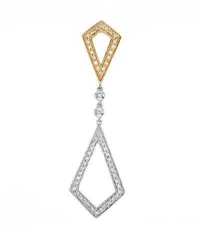Brand New Pendant with 0.24ctw diamond 14K Two tone gold