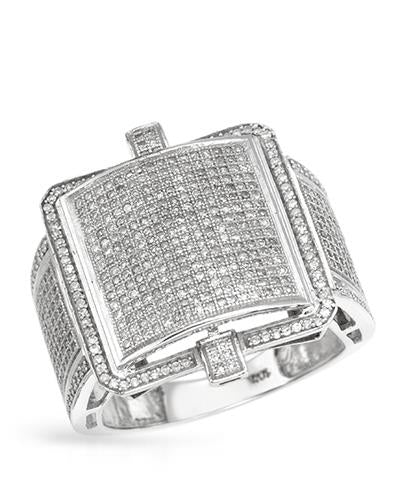 Lundstrom Brand New Ring with 1.3ctw diamond 10K White gold
