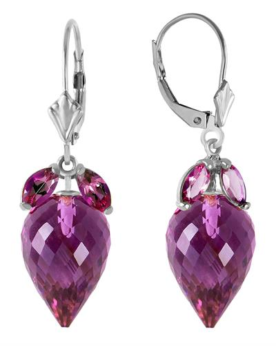 Magnolia Brand New Earring with 20ctw amethyst 14K White gold