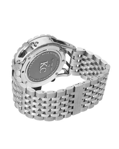 Techno Com by KC WA009392 Brand New Japan Quartz date Watch with 4ctw of Precious Stones - diamond and mother of pearl