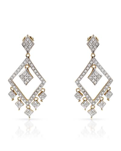 Brand New Earring with 1ctw diamond 14K Yellow gold