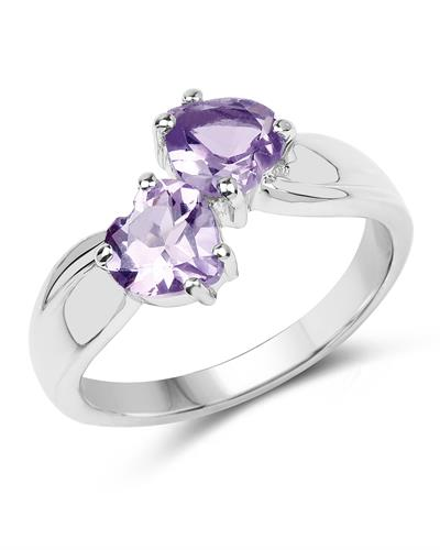 Brand New Ring with 1.4ctw amethyst 925 Silver sterling silver
