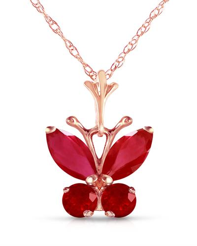 Magnolia Brand New Necklace with 0.6ctw ruby 14K Rose gold