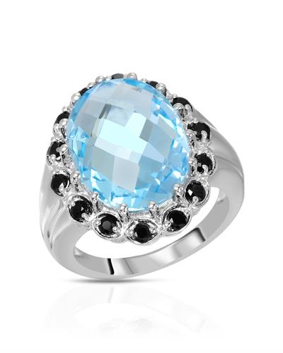 Brand New Ring with 12.49ctw of Precious Stones - spinel and topaz 925 Silver sterling silver