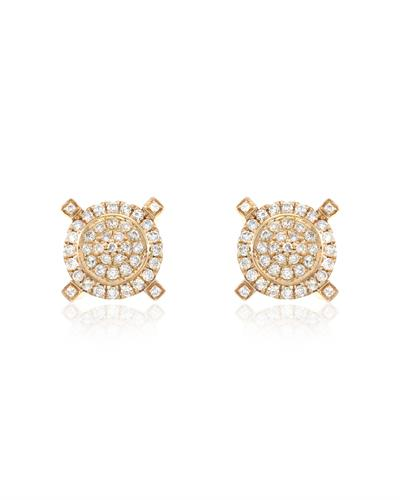 Brand New Earring with 0.95ctw diamond 14K Rose gold
