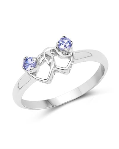 Brand New Ring with 0.14ctw tanzanite 925 Silver sterling silver