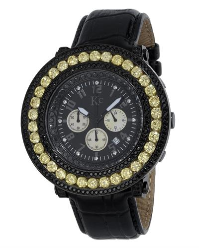 KC WA009397 Brand New Japan Quartz date Watch with 0ctw of Precious Stones - crystal and mother of pearl