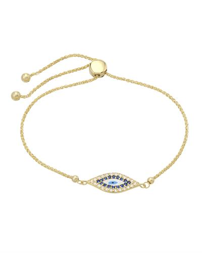 Millana Brand New Bracelet with 0ctw cubic zirconia  Multicolor Enamel and 14K Yellow gold