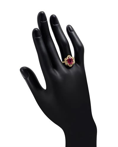 Brand New Ring with 2.75ctw of Precious Stones - diamond and ruby 14K Yellow gold