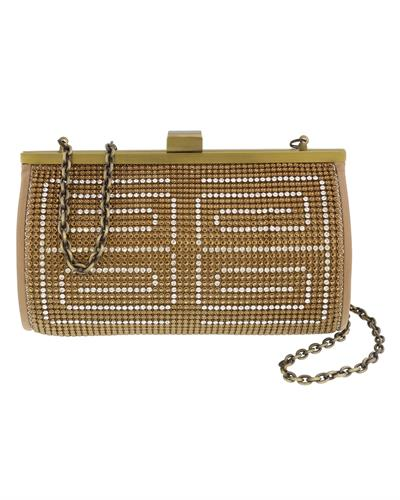 Scheilan Brand New Clutch with 0ctw crystal  Gold metal