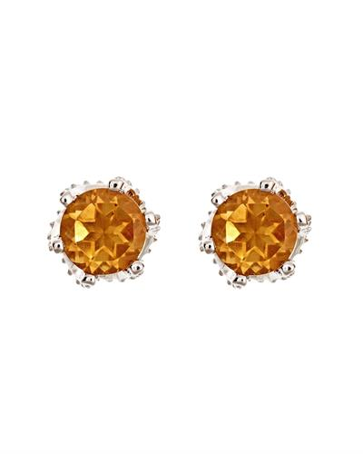 Brand New Earring with 1.4ctw citrine 925 Silver sterling silver