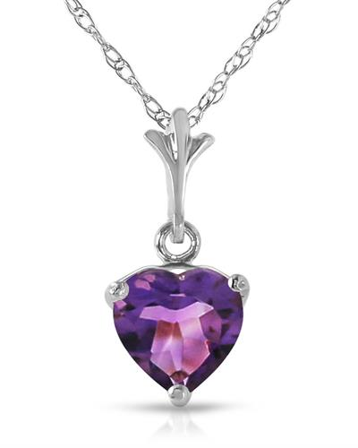 Magnolia Brand New Necklace with 1.15ctw amethyst 14K White gold