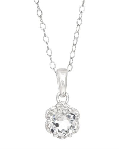 Brand New Necklace with 1ctw topaz 925 Silver sterling silver