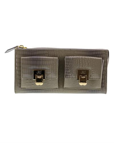 Jacky&Celine J11-012 GRIGIO Brand New Wallet  Grey leather