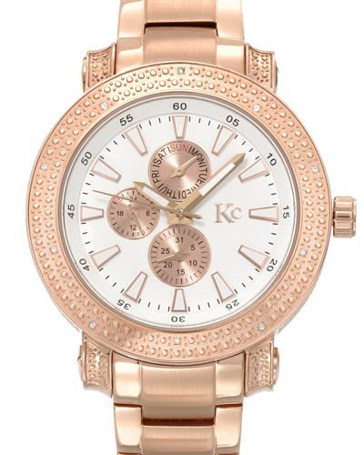 KC Brand New Japan Quartz day date Watch with 0.08ctw diamond