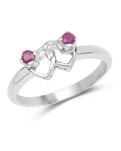 Brand New Ring with 0.15ctw ruby 925 Silver sterling silver