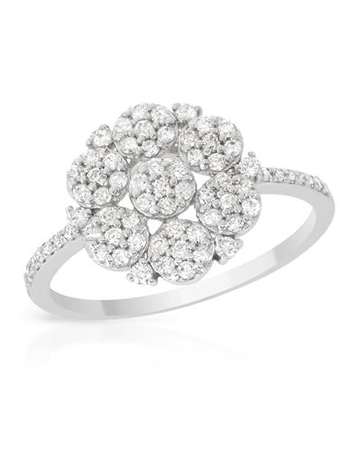 Brand New Ring with 0.49ctw diamond 14K White gold