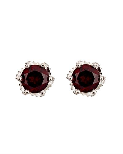 Brand New Earring with 2ctw garnet 925 Silver sterling silver