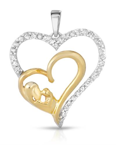 Brand New Pendant with 0.24ctw diamond 10K Two tone gold