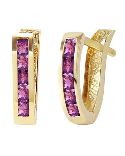 Magnolia Brand New Earring with 0.85ctw amethyst 14K Yellow gold