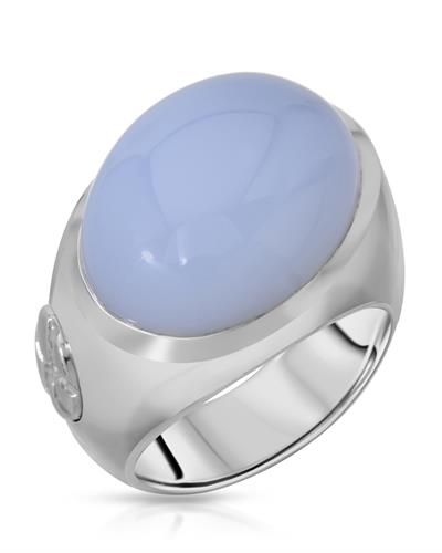 HELLMUTH Brand New Ring with 0ctw chalcedony 925 Silver sterling silver