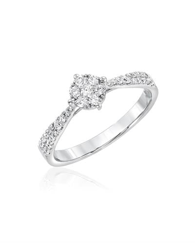 Julius Rappoport Brand New Ring with 0.31ctw diamond 18K White gold